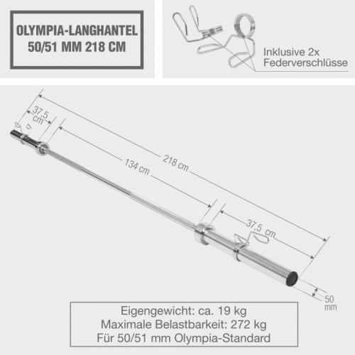 Langhantelstange 50/51mm Olympia