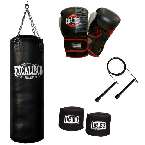 EXCALIBUR Boxset PRO mit Boxsack, Boxhandschuhe, Bandagen und Springseil