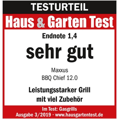 Gasgrill BBQ Chief 12.0 - Testnote Sehr Gut