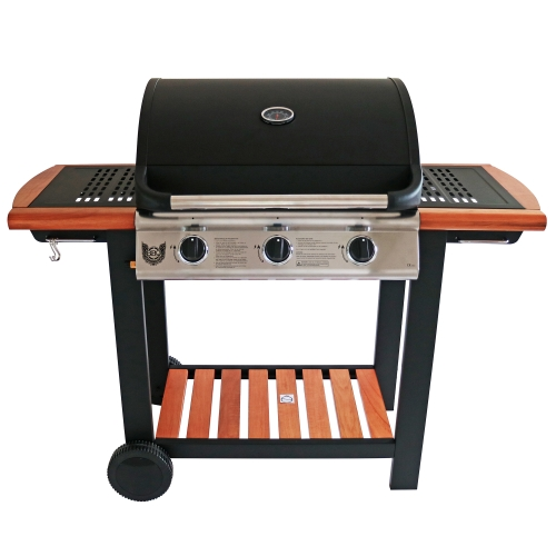 Gasgrill BBQ Chief TIMBER 3.0 + GRATIS Grillbürste und Grillzange