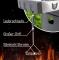 Profi BBQ Chief Grillbürste 40 cm geeignet für jeden Gasgrill, Holzkohlegrill und Elektrogrill